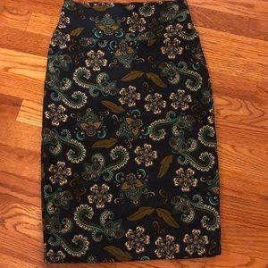 XS Floral LulaRoe Cassie Skirt